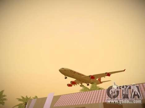 Airbus A340-300 Virgin Atlantic for GTA San Andreas engine