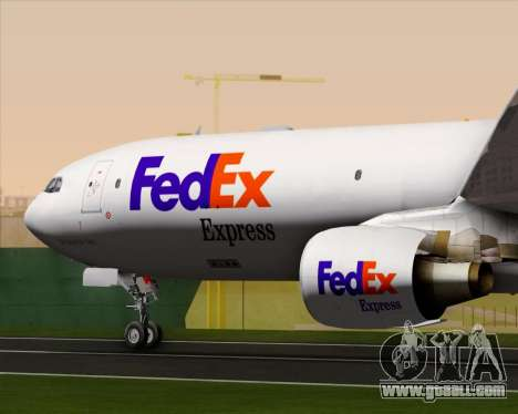 Airbus A330-300P2F Federal Express for GTA San Andreas bottom view