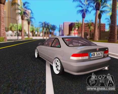 Honda Civic EM1 V2 for GTA San Andreas left view