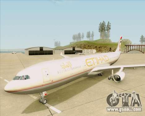 Airbus A340-313 Etihad Airways for GTA San Andreas upper view