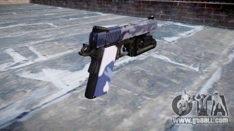 Gun Kimber 1911 Blue Tiger for GTA 4 second screenshot