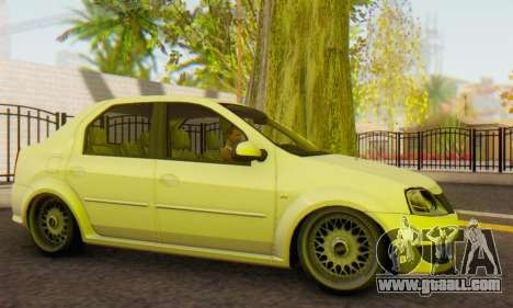 Dacia Logan White for GTA San Andreas left view