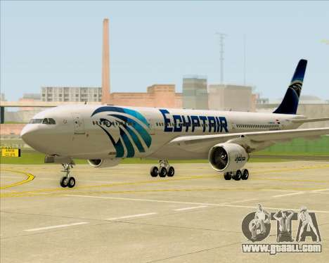 Airbus A330-300 EgyptAir for GTA San Andreas left view