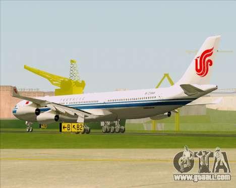 Airbus A340-313 Air China for GTA San Andreas right view