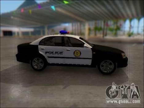 Chevrolet Evanda Police for GTA San Andreas inner view