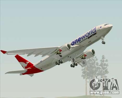 Airbus A330-200 Qantas Oneworld Livery for GTA San Andreas engine