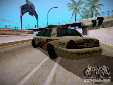 Ford Crown Victoria Toronto Police Service for GTA San Andreas