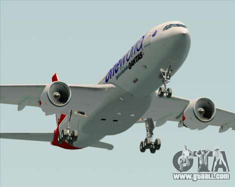 Airbus A330-200 Qantas Oneworld Livery for GTA San Andreas side view