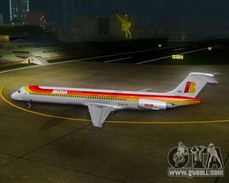 McDonnell Douglas MD-82 Iberia for GTA San Andreas bottom view