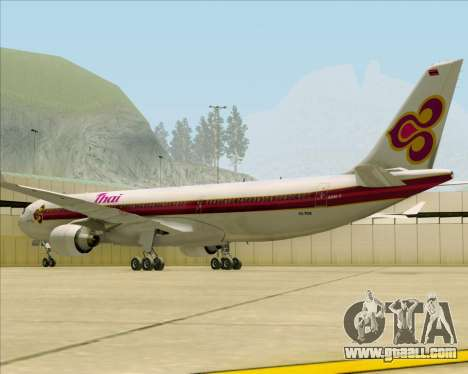 Airbus A330-300 Thai Airways International for GTA San Andreas right view