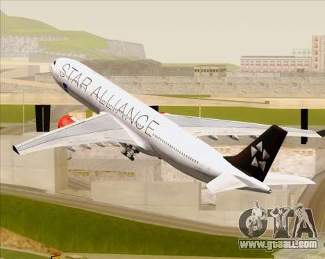 Airbus A330-300 SAS (Star Alliance Livery) for GTA San Andreas wheels