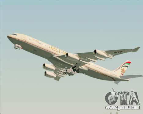 Airbus A340-313 Etihad Airways for GTA San Andreas engine