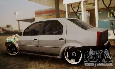Dacia Logan Sedan Tuned for GTA San Andreas left view