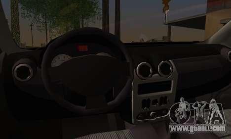 Dacia Logan Sedan Tuned for GTA San Andreas back left view