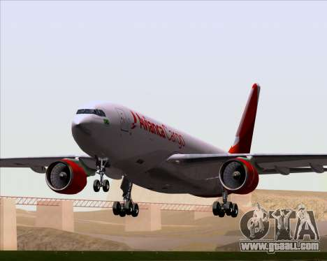 Airbus A330-243F Avianca Cargo for GTA San Andreas bottom view
