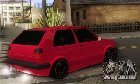 Volkswagen Golf Mk2 Low Life for GTA San Andreas left view