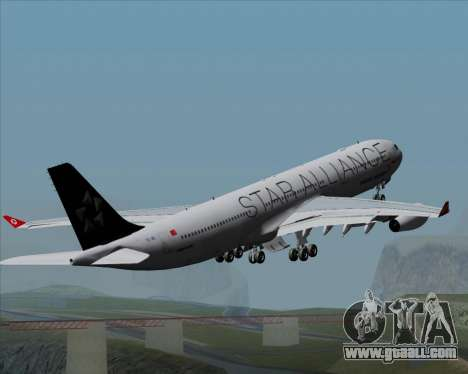 Airbus A340-311 Turkish Airlines (Star Alliance) for GTA San Andreas engine