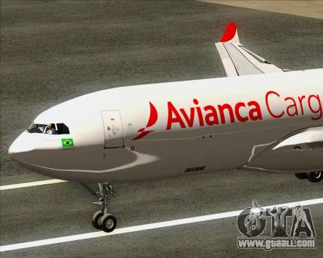 Airbus A330-243F Avianca Cargo for GTA San Andreas right view