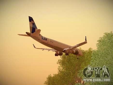 Embraer E190 TRIP Linhas Aereas Brasileira for GTA San Andreas interior