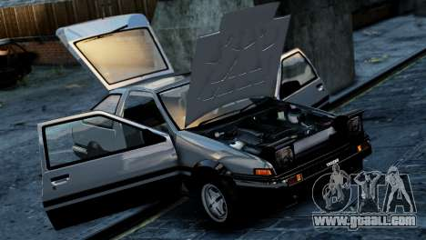 Toyota Sprinter Trueno AE86 Zenki for GTA 4 back left view