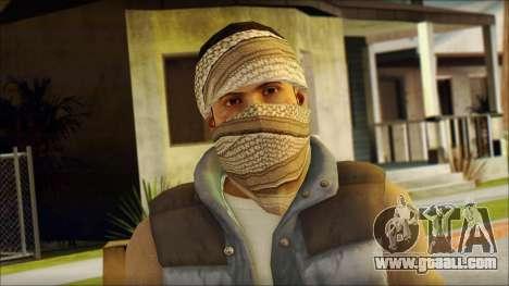 Arabian Resurrection Skin from COD 5 for GTA San Andreas third screenshot