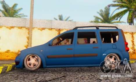 Dacia Logan MCV for GTA San Andreas back left view