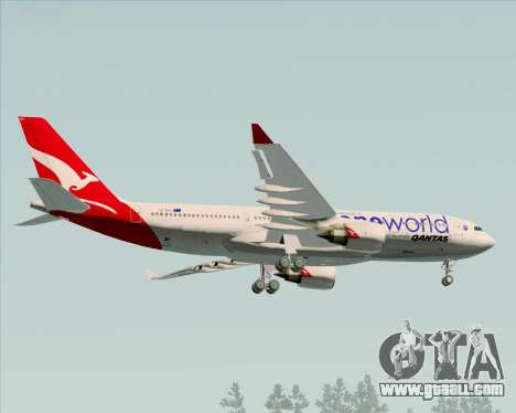 Airbus A330-200 Qantas Oneworld Livery for GTA San Andreas back view