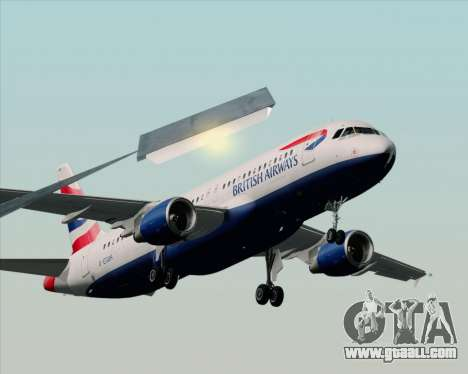 Airbus A320-232 British Airways for GTA San Andreas back view