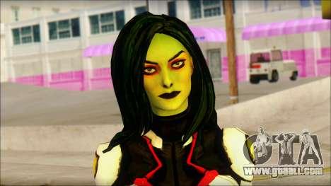 Guardians of the Galaxy Gamora v2 for GTA San Andreas third screenshot