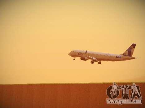 Embraer E190 TRIP Linhas Aereas Brasileira for GTA San Andreas back view