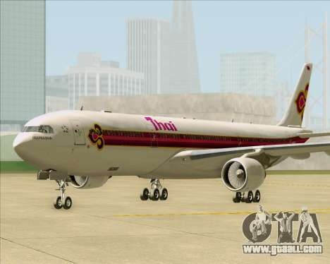 Airbus A330-300 Thai Airways International for GTA San Andreas back left view