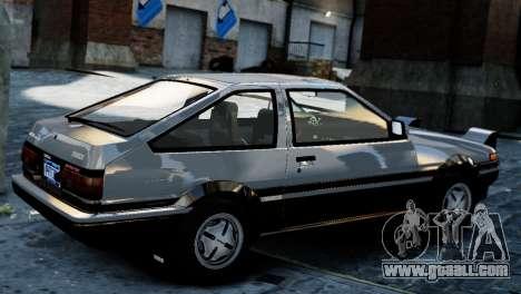 Toyota Sprinter Trueno AE86 Zenki for GTA 4 left view
