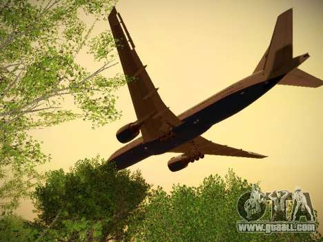 Boeing 777-2Q8ER Orenair Airlines for GTA San Andreas back view