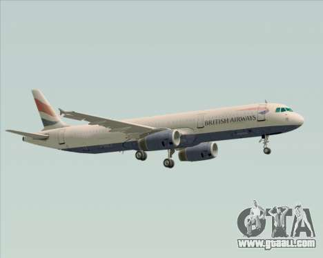 Airbus A321-200 British Airways for GTA San Andreas upper view