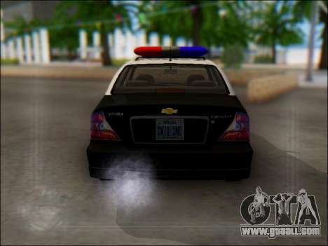 Chevrolet Evanda Police for GTA San Andreas right view