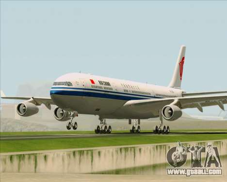 Airbus A340-313 Air China for GTA San Andreas side view