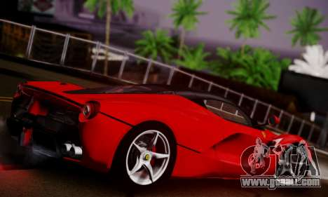 Ferrari LaFerrari F70 2014 for GTA San Andreas inner view