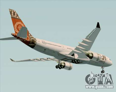 Airbus A330-200 Fiji Airways for GTA San Andreas upper view