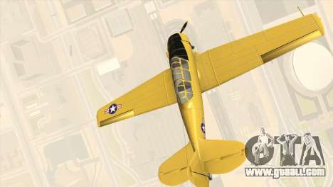 North American T-6 TEXAN for GTA San Andreas back left view