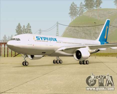 Airbus A330-200 Syphax Airlines for GTA San Andreas back left view