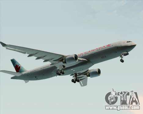 Airbus A330-300 Air Canada for GTA San Andreas upper view