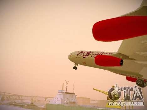 Airbus A340-300 Virgin Atlantic for GTA San Andreas interior