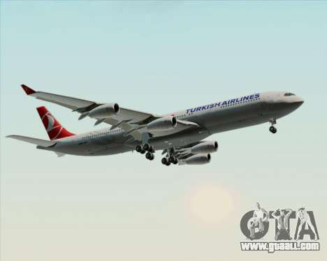 Airbus A340-313 Turkish Airlines for GTA San Andreas wheels