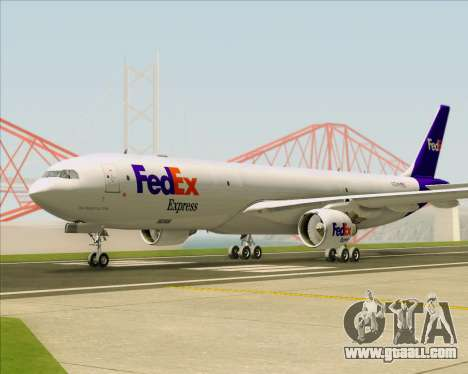 Airbus A330-300P2F Federal Express for GTA San Andreas back view