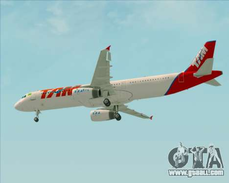 Airbus A321-200 TAM Airlines for GTA San Andreas inner view