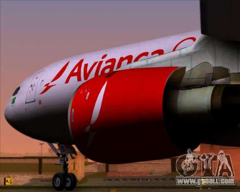 Airbus A330-243F Avianca Cargo for GTA San Andreas back view