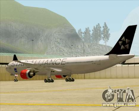 Airbus A330-300 SAS (Star Alliance Livery) for GTA San Andreas right view