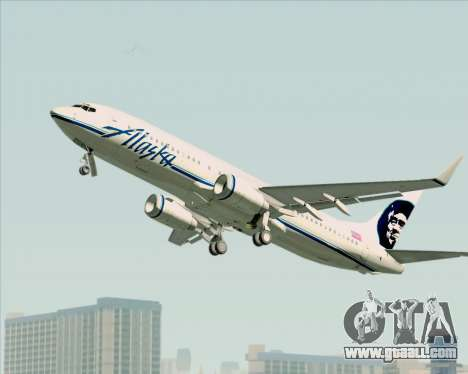 Boeing 737-890 Alaska Airlines for GTA San Andreas back view