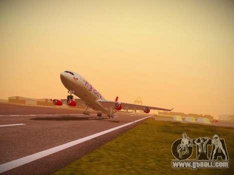 Airbus A340-300 Virgin Atlantic for GTA San Andreas left view