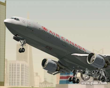 Airbus A330-300 Air Canada for GTA San Andreas bottom view